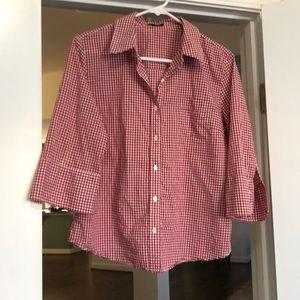 J. Crew plaid gingham button down shirt